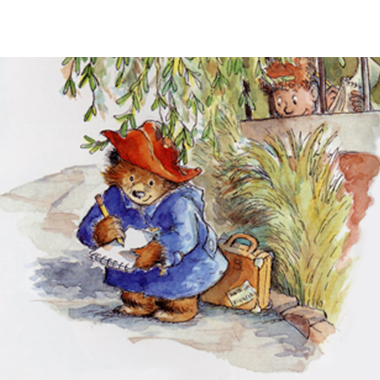 Paddington 2 writing